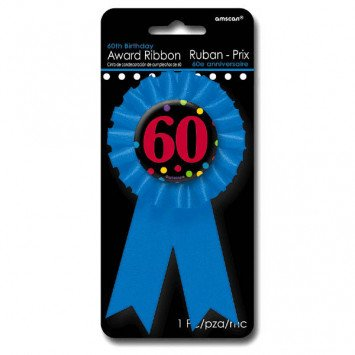 Award Ribbon Button 60th