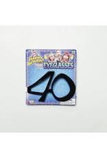 """Birthday Glasses """"40"""