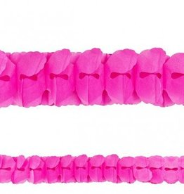 Bright Pink Paper Garland 12'