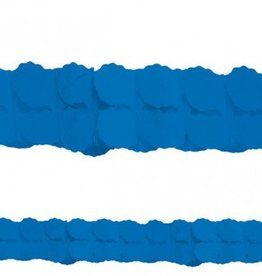 Bright Royal Blue Paper Garland 12'