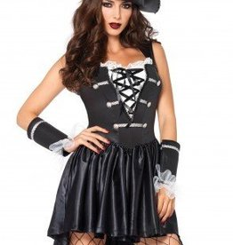 Women's Costume Captain Black Heart XLarge