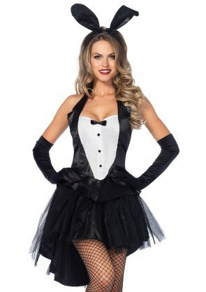 Women's Costume Tux and Tails Bunny Plus Size 1X/2X