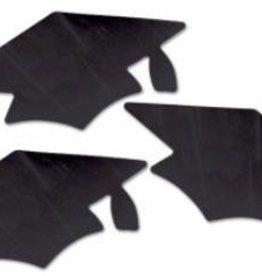 """Grad Cap Cutouts Black 5 1/2"""" 3/pk"""
