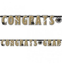 Banner Letter Giant Black Gold Graduation
