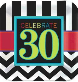 "30th Celebration 9"" Plates 8pc"