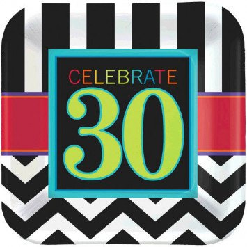 "30th Celebration 9"" Plates 8pc"