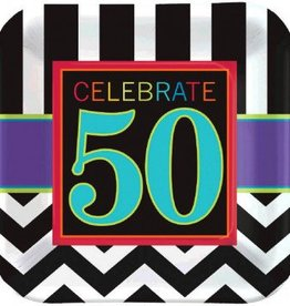 "50th Celebration 7"" Square Plate (8)"