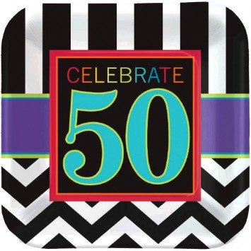 "50th Celebration 7"" Square Plate (8)"