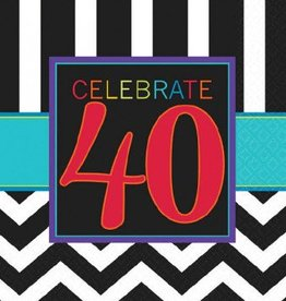 40th Celebration Lunch Napkin 16pc