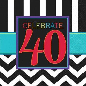 40th Celebration Lunch Napkin 16pc