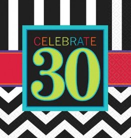 30th Celebration Lunch Napkin 16pc