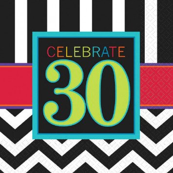 30th Celebration Lunch Napkin 16pc