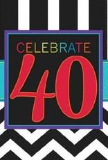 40th Celebration Beverage Napkin 16pc