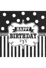 Chalkboard Birthday Beverage Napkins (16)