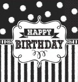 Chalkboard Birthday Beverage Napkins (16)