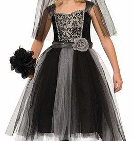 Child Costume Gothic Bride Medium