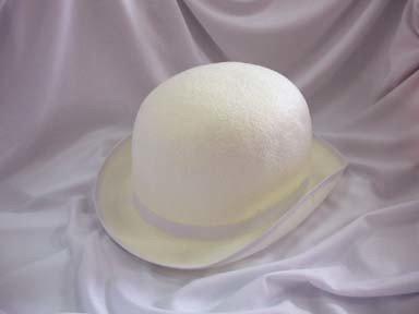 White Felt Derby Hat