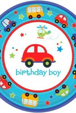 "All Aboard Birthday 7"" Plate 18pc"