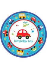 """All Aboard Birthday 7"""" Plate (18)"""