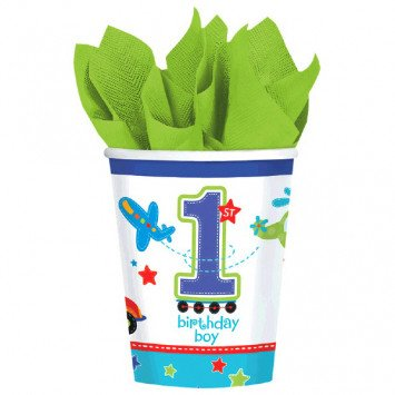 All Aboard Birthday 9oz Cups 18ct