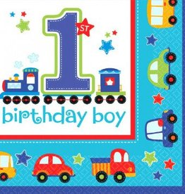 All Aboard Birthday Lunch Napkin 36pc