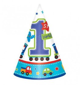 All Aboard Birthday Party Hats (8)