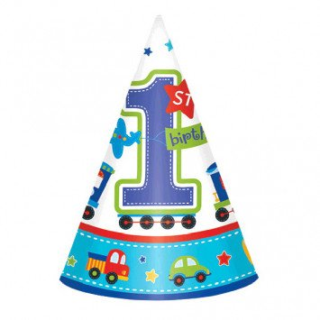 All Aboard Birthday Party Hats 8ct
