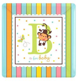 """Fisher-Price ABC Baby Shower 7"""" Plates"""