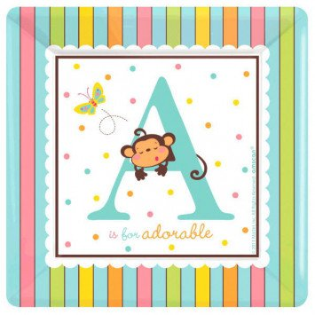 Fisher-Price ABC Baby Shower Lunch Plates