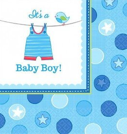 Shower w/Love Boy Luncheon Napkins