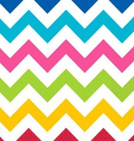 Bright Chevron Luncheon Napkins (36)