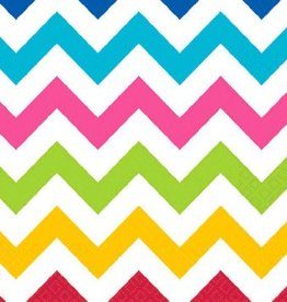 Bright Chevron Beverage Napkins (36)
