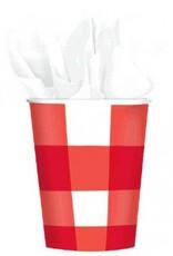American Summer Gingham 9oz Cups (8)