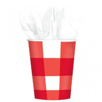 American Summer Gingham 9oz Cups 8pcs
