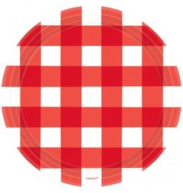"American Summer Gingham Plates 10"" (8)"