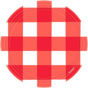 "American Summer Gingham Plates 7"" (8)"