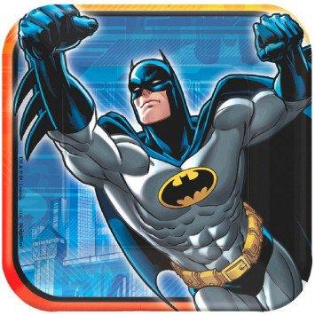 "Batman Square 7"" Plate 8pc"