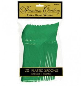 Festive Green Premium Spoons 20ct