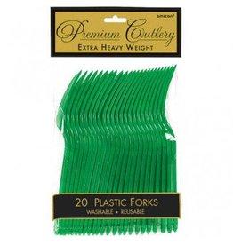 Festive Green Premium Forks (20)
