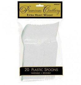 Clear Premium Spoons 20ct