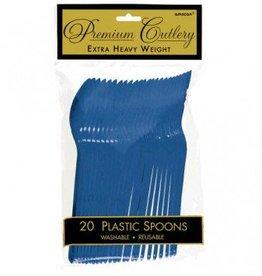Bright Royal Blue Premium Spoons 20ct