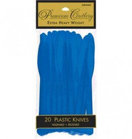 Bright Royal Blue Premium Knives 20ct