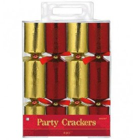 Christmas Crackers Red/Gold Foil