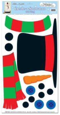 Create a Snowman Sticker Set