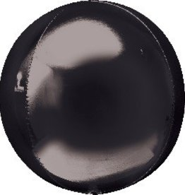 Mylar Bubble Black Orbz Balloon