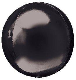 Bubble Black Orbz Mylar Balloon