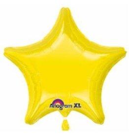 Citrine Yellow Star Mylar Balloon