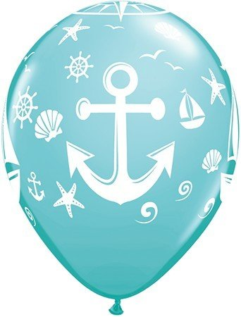"11"" Printed Nautical Sailboat and Anchor"