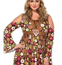 Women's Costume Starflower Hippie 1X-2X