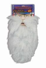 White Full Beard and Moustache